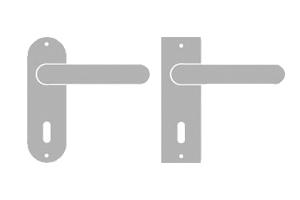 sLINE Kurzschildgarnitur aus Aluminium - Linie 50