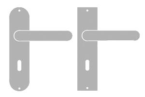 sLINE Langschildgarnitur aus Aluminium - Linie 50