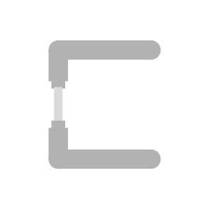 Einzelteile aus Edelstahl von sLINE - Drückerpaar für Ganzglasgarnituren ohne Rosette