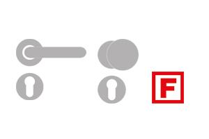 sLINE Objekt- und Feuerschutzbeschläge - Feuerschutz-Rosettengarnitur Linie 80