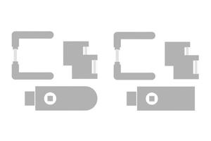 sLINE Glastürbeschlag aus Edelstahl - Linie 80