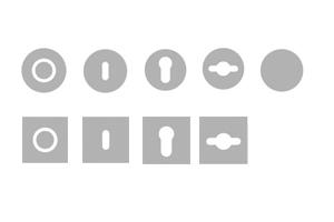 sLINE Einzelteile aus Edelstahl - Rosetten für Innentürgarnituren