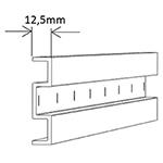 sLINE Schiebetürbeschläge Distanzprofil-Set für A60