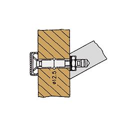 Befestigungen für Stoßgriffe von sLINE - Einzelbefestigung von der Rückseite