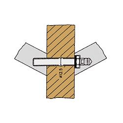 Befestigungen für Stoßgriffe von sLINE - Paarweise Befestigung für Holz-, Kunststoff- und Metalltüren
