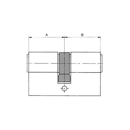 sLINE Profilzylinder - Maßzeichnung Doppelzylinder mit Gefahrenfunktion