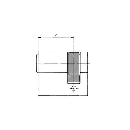 sLINE Profilzylinder - Maßzeichnung Halbzylinder
