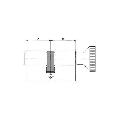 sLINE Profilzylinder - Maßzeichnung Knaufzylinder