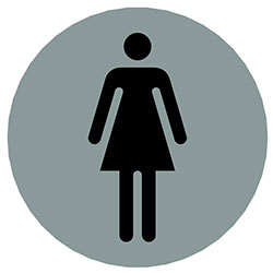 sLINE Hinweiszeichen Frauen rund