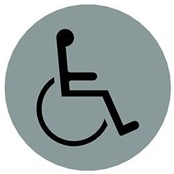 sLINE Hinweiszeichen Mensch mit Behinderung rund