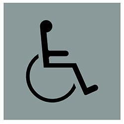 sLINE Hinweiszeichen Mensch mit Behinderung
