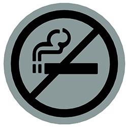 sLINE Hinweiszeichen Rauchverbot rund